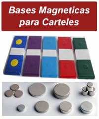 BASES MAGNETICAS PARA ROTULOS