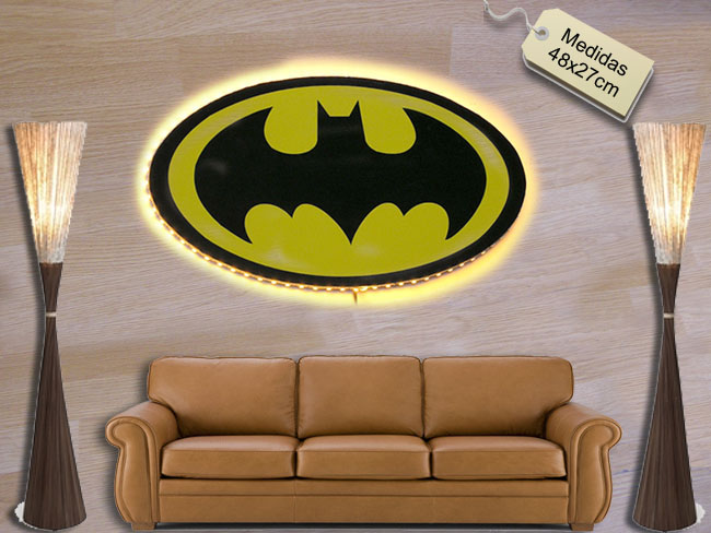 CARTEL LEDS LOGOTIPO BATMAN