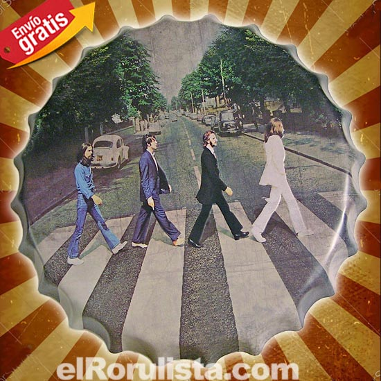 CHAPA METALICA VINTAGE GRUPO MUSICA THE BEATLES
