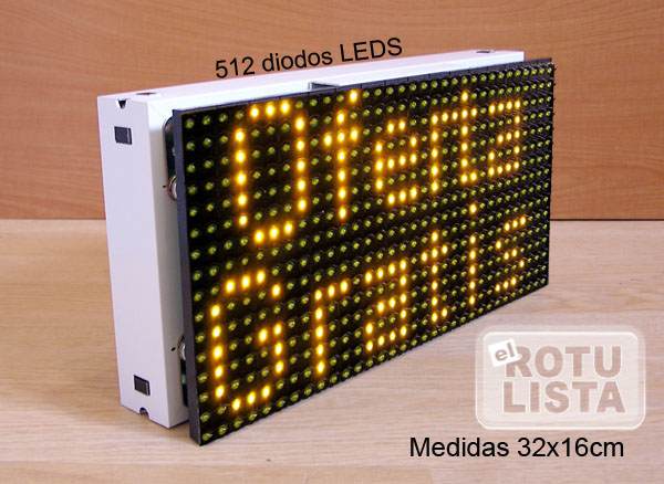 .CARTEL LETRERO ROTULO LED PROGRAMABLE MEDIDAS 32x16cm