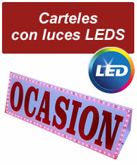 CARTELES ROTULOS CON LUCES LEDS